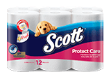 scott protect care 12 rollos pack rosado y azul thumbnail